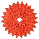 MWPO Tovagliette, Set di 6 tovagliette con Fiori Geometrici in Gel di silice Stuoie Lavabili Resistenti al Calore per tavoli da Pranzo Sottobicchieri per Barbecue da Giardino (Colore Opzionale),