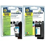2x Cartouches d'encre Compatibles pour Imprimante HP Deskjet 840c - Noir+Tri-Colour- Haute Capacité 45ml