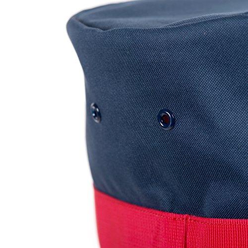 Herschel Sutton Herren Duffeltasche Schwarz dunkelblau / rot