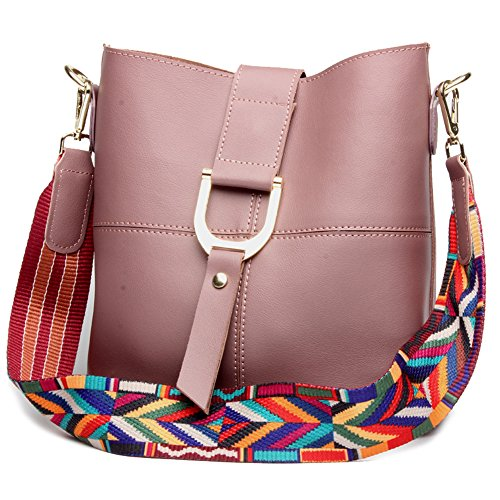 Anne, Borsa a spalla donna nero Brown Light Purple