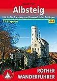 Albsteig: HW 1 - Nordrandweg von Donauwörth bis Tuttlingen. 27 Etappen. Mit GPS-Tracks