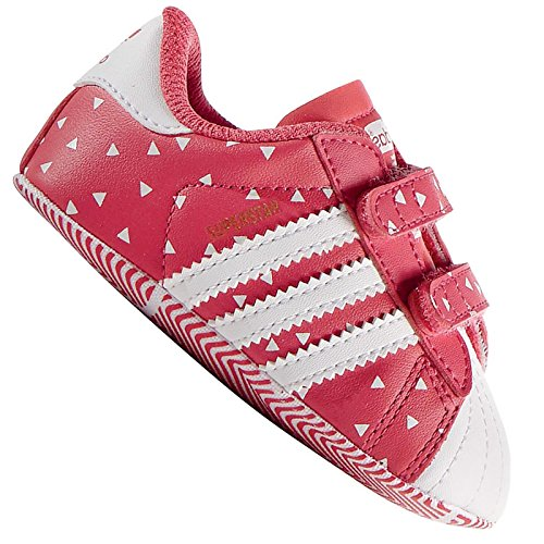Adidas Superstar Crib - Zapatillas Unisex, Color Rosa/Blanco, Talla 20