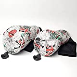 EDAY Drivers, Fairway Woods, Hybrids British flag Synthetic Leather Golf Head Covers Fit for All Golf Brands Taylormade, Cobra, Nike Titleist, Callaway, Ping,