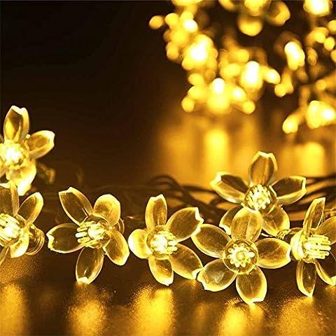 YARBAR Blossom 50 stringa solare luci esterne del LED Giardino Illuminazione Fiori Bianco caldo
