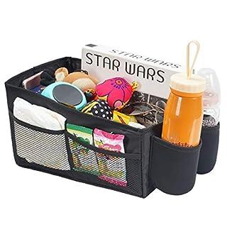 COOLBEBE Autositz Lagerung Universal Car Organizer für vorne Rücksitz Portable In-Car Organizer mit Multi-Taschen und Getränkehalter Auto Reisen