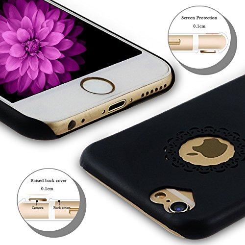 iPhone 6S Plus Hülle, iPhone 6 Plus Hülle, SpiritSun Transparent Schutzhülle für Apple iPhone 6 6S Plus (5.5 Zoll) PC Hart Handyhülle Extrem Dünne Bumper Cover mit Stylus Pen - Gelb Schwarz