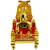 Amazing India Hand Carved Baby Laddu Gopal Krishna with Jhula Brass Idol Sculpture, 3.7-inch
