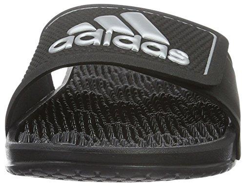 adidas Herren Adissage 2.0 Logo Zehentrenner, 39 EU Schwarz (Core Black/Matte Silver/Core Black)