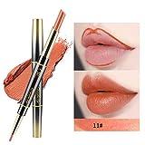 iHENGH Charme Rouge à Lèvres, Double-End Durable Lipliner bâton imperméable Liner Crayon à lèvres 14 Couleur