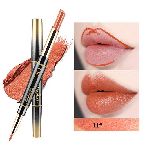 Lenfesh Lippenstifte Dauerhafter Lipliner Lip-Liner-Stift mit Bleistift 14 Farbe Langanhaltender und...