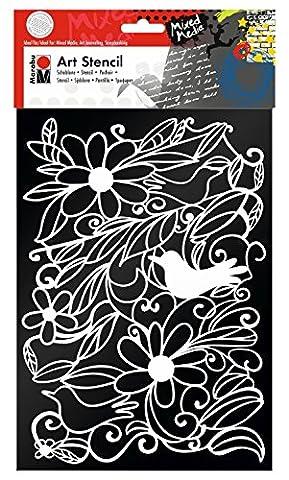 Marabu 028500005 Polyester Art stencil papeterie - papeteries (Art stencil,