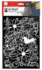 Marabu 028500005 Poliéster Plantilla de Estarcido Plantilla - Plantilla de Letras (Plantilla de Estarcido, Adulto, Poliéster, 210 mm, 297 mm)