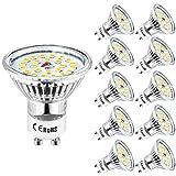 GU10 Blanc Froid Wowatt Ampoule GU10 6000K LED 6W Équivaut à 50W 40W 35W Lampe Halogène 230V Spot GU10 LED 600Lumens Lumineux...