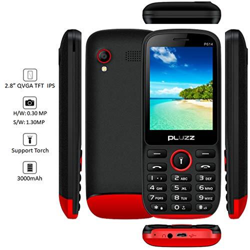 Altsommer Seniorenhandys, 2,8 Zoll Bildschirm mit Dual-SIM,Großen Tasten,Bluetooth,FM Radio, Großer Lautsprecher,Notruf-Knopf und Taschenlampe Mobiltelefon,4 Sprachen Handy (A)