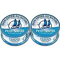 Petit Navire Thon albacore entier au naturel Les 2 boites de 140g, soit 280g - Prix Unitaire - Livraison Gratuit...