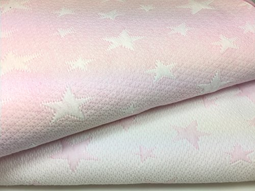 Leiper Colcha Cubrecama ESTRELLITAS de Jacquard Estrellas en Color Gris o Beig (Todas Las Medidas). Reversible (Rosa, 180x260 (Cama 90 cm))