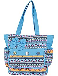 Cool Blue Contemporary Print Hand Bag For Mother's Day