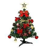 Kylewo Mini Albero di Natale da 30 cm: Piccolo Albero di Natale Artificiale con Illuminazione a LED per la Festa della Cucina Domestica Home Winter [Classe energetica A ++]