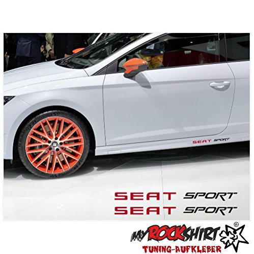 Seat Sport 2x Schweller 30cm Aufkleber Tuning Scheibe Lack TYP-MRS171 `+ Bonus Testaufkleber
