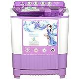 Intex 8 kg Semi-Automatic Top Loading Washing Machine (WMSA80LV, White and Lavender)