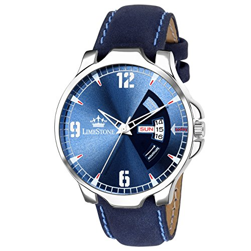 LIMESTONE Day and Date Analogue Blue Dial Men's Watch – LS2733