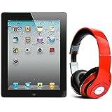 Pack iPad 2 64Go Wifi 4G Noir avec casque Bluetooth Rouge