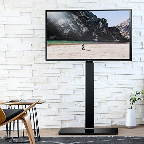 51ef9ZbL8AL - FITUEYES Soporte Giratorio de Suelo para TV de 27-55 Pulgadas Altura Ajustable Soporte de Televisión LCD LED OLED Plasma Plano Curvo TT106001MB