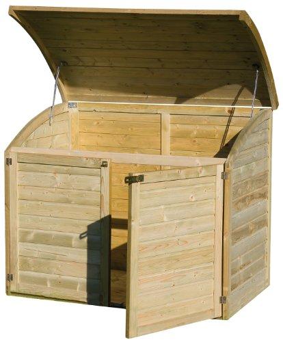 Coffre de rangement pour le jardin en bois TOPAZE 1000 L