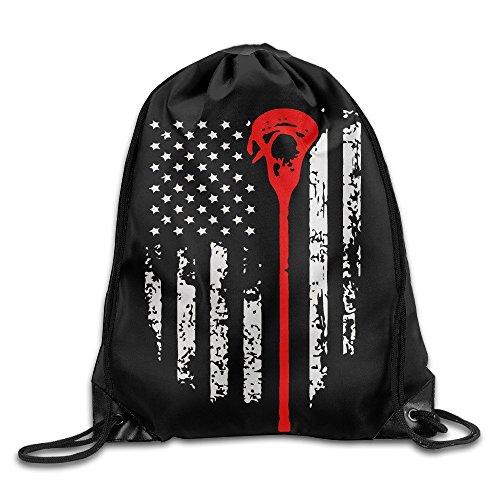 Fedso Lacrosse American Flag Cool Kordelzug Rucksack String Bag (Flag-tag-buch)