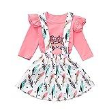 Lenfesh Kleinkind Kinder Baby Mädchen Feder Thanksgiving Brief Tops Rock Kleidung Sets Rock Set Kleinkind Kinder Kleidung Kleidungsset