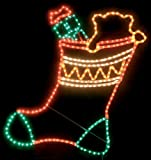 Rope Light Gift Sock Christmas Decoration