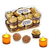 #10: Ferrero Rocher 16 Pieces Gift Box 200g- Combined with 2 Natural Yellow LED DIYA