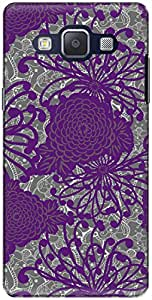 The Racoon Lean printed designer hard back mobile phone case cover for Samsung Galaxy A5. (Purple Flo)