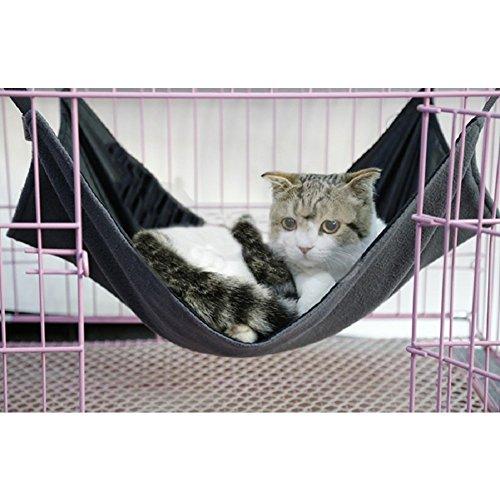 owikar Katze Hängematte Bett bequem Aufhängen atmungsaktiv Matte Wasserdicht kleinen Tier Warm weichen Schwung Käfig Hängematte Haustier Kissen Krippe für Kätzchen Puppy Katze Kaninchen Bunny Wicker Krippe