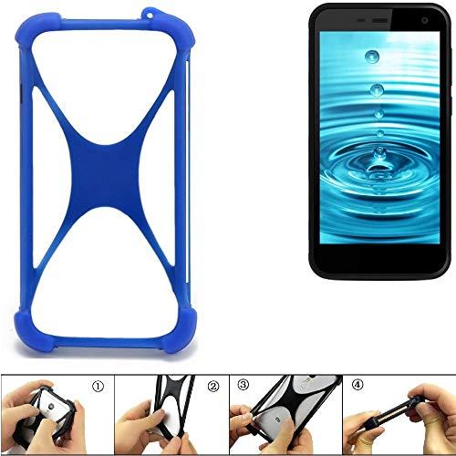 K-S-Trade Handyhülle Energizer H500S Silikon Schutz Hülle Cover Case Bumper Silikoncase TPU Softcase Schutzhülle Smartphone Stoßschutz, blau (1x)