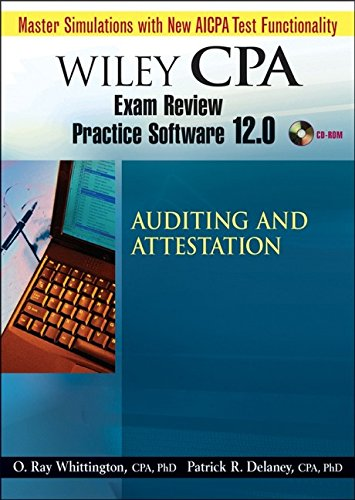Wiley CPA Examination Review Practice Software-Audit 12.0