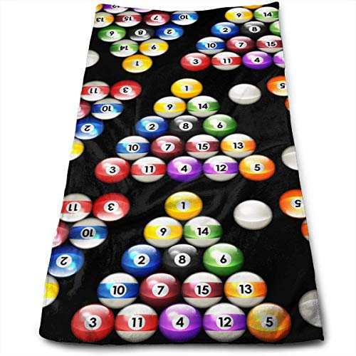 Wolanim Pool Balls Billiards Colors Pattern Microfiber Multi-Purpose Towel Bath Towels Hand Towels Washcloth Towels Bathroom Towels - Great Shower Towels, Hotel Towels & Gym Towels 12