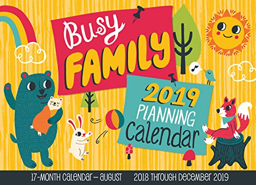 Busy Family Planning Calendar 2019: 17-Month Calendar - August 2018 through December 2019 (Calendars 2019) (Adressbuch-editor)