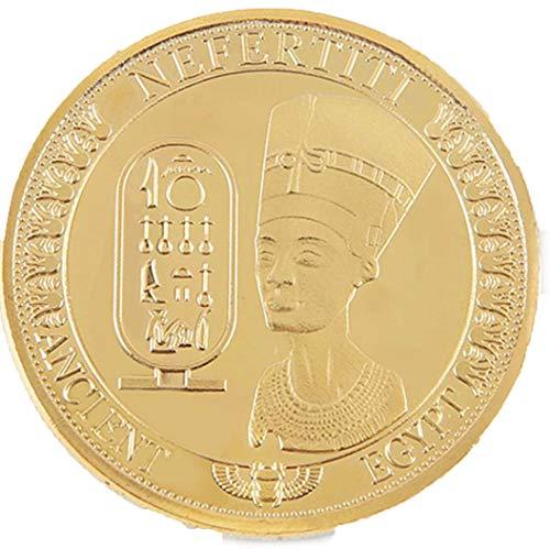 Característica:  Diseño del antiguo Egipto Nefertiti, dos lados  Arte y coleccionables del recuerdo, regalo del negocio de la decoración de las vacaciones Esto es por una moneda, las imágenes representan el frente y la espalda Perfecto para su regalo...
