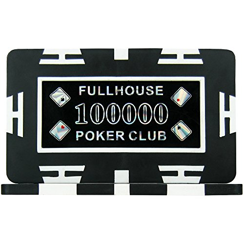 Full House Poker Club Plaques - Black 100000  Pack of 5   29g ABS Composite