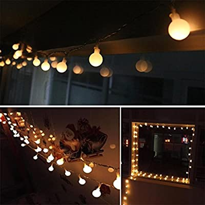 FFNW Safe Voltage Wedding Party Globe Fairy Lights 33 Feet/10 Meters 100leds LED String Lights for Garden, Bedroom, Outdoor, Indoor, Home, Living Room