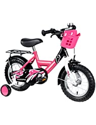 HUDORA Kinder-Fahrrad, 12 Zoll, mit Stützrädern