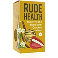 Rude Health Foods | Buckwheat &Black Bean Crackers | 5 x 120g