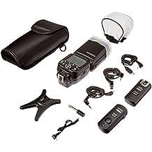 Neewer® NW565N Kit de Flash Esclavo i-TTL Professional para Nikon D7100 D7000 D5300 D5200 D5100 D5000 D3200 D3100 D3300 D90 D800 D700 D300 D300S D610, D600 D4 D3S D3X D3 D200 y todas otras cámaras DSLR de Nikon - Incluye: Neewer Flash de Enfoque Automático + Disparador Inalámbrico 2.4GHz + Cables N1-Cord & N3-Cord + Difusores de Flash Duro y Suave + Soporte para Tapa de Lente