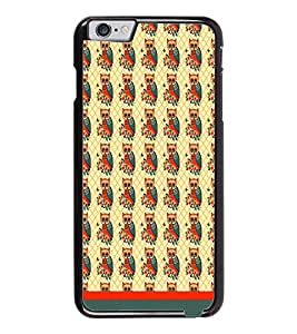 PrintDhaba Owl Pattern D-1652 Back Case Cover for APPLE IPHONE 6 (Multi-Coloured)