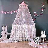 Lembeauty Moskitonetz, rund, Spitze, Spitze, Prinzessinnen-Betthimmel, Spielzelt Vorhang für Kinderzimmer Rose
