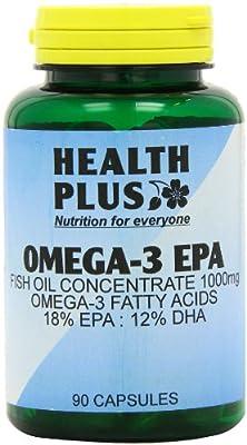 Health Plus Omega-3 Epa 1000mg Fish Oil Supplement - 90 Capsules by Health + Plus Ltd