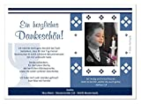 Moderne Dankeschön Karten Kommunion Junge - coole originelle - mit Foto und Wunschtext - Menge 50, Größe DIN A5