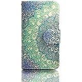 Funda para Samsung Galaxy S3,Funda de Cuero Cartera Piel Carcasa para Samsung Galaxy S3 i9300/S3 Neo i9301 Wallet Cover Case-Flor