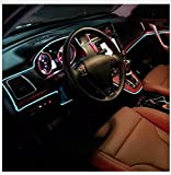 #8: Leebo™ EL Wire Car Interior Light Ambient Neon Light 5 Meter Roll (Ice Blue, Pack of 1) for Mahindra XUV 500